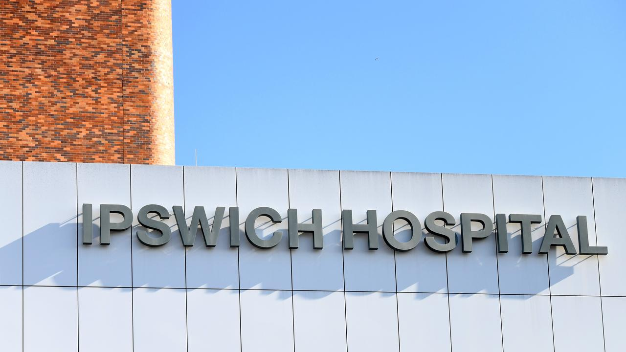 A person was taken to Ipswich Hospital on Friday evening after their car collided with a pole.