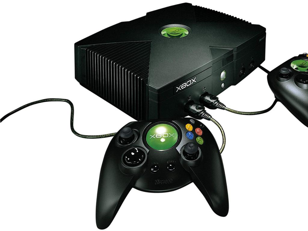 The original Xbox looked a bit like a VCR and had a huge controller but it was powerful.