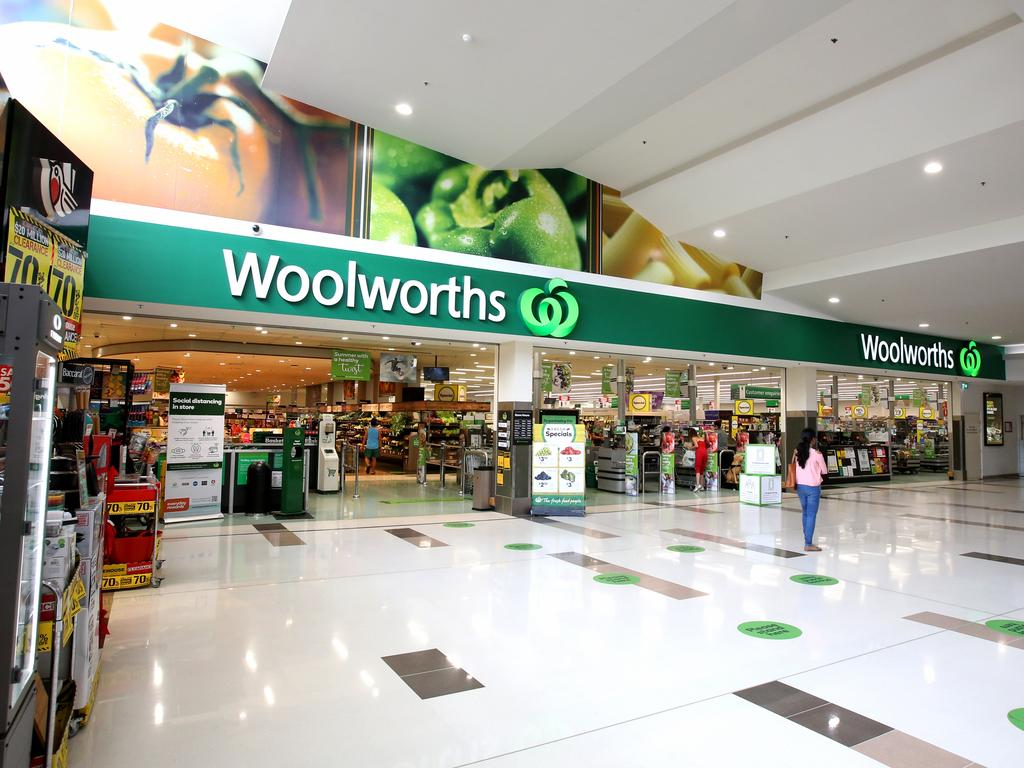 Staff and customers Woolworths stores in Brisbane have been placed on high alert. Picture: Steve Pohlner