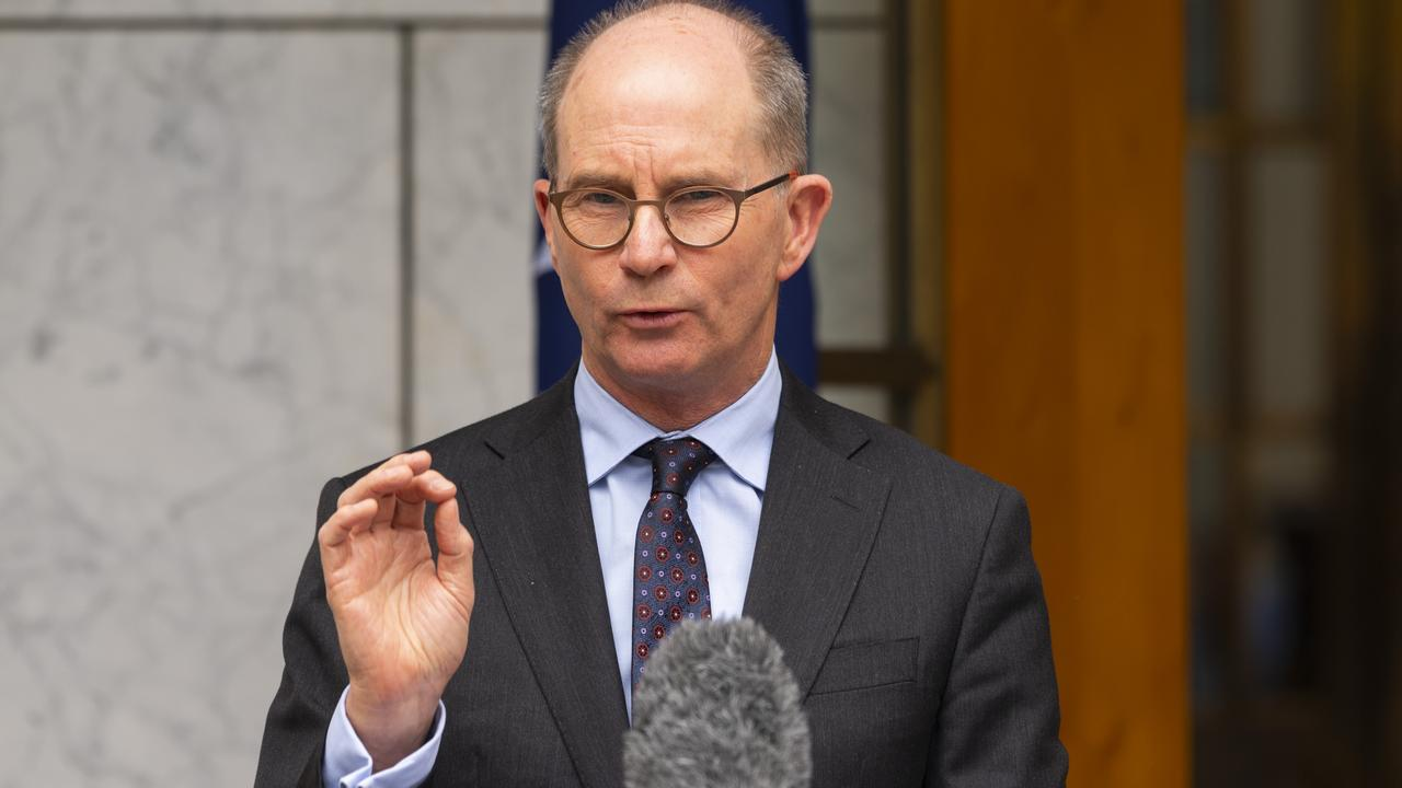 Chief Medical Officer, Professor Paul Kelly at a press conference after the National Cabinet meeting at Parliament House. Picture: NCA NewsWire /Martin Ollman