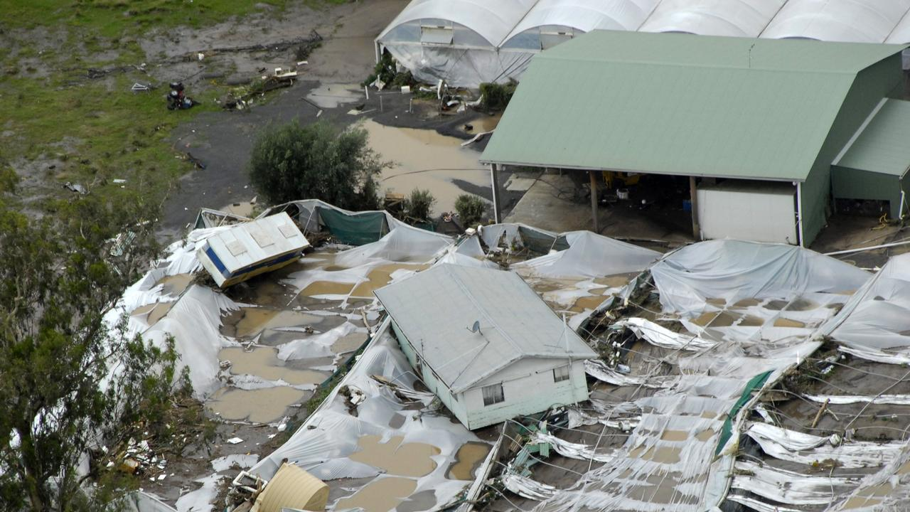 A house that was washed away in the floods at Grantham in 2011. Photo Bev Lacey / The Chronicle