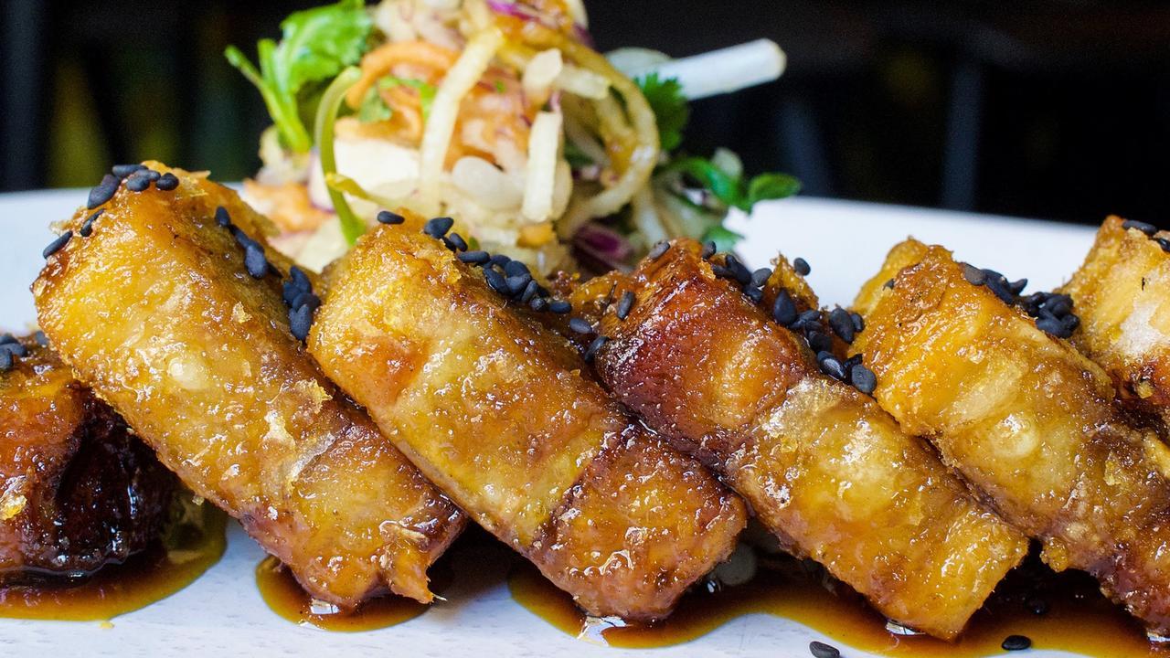 Palm-glazed pork belly at The Loft.