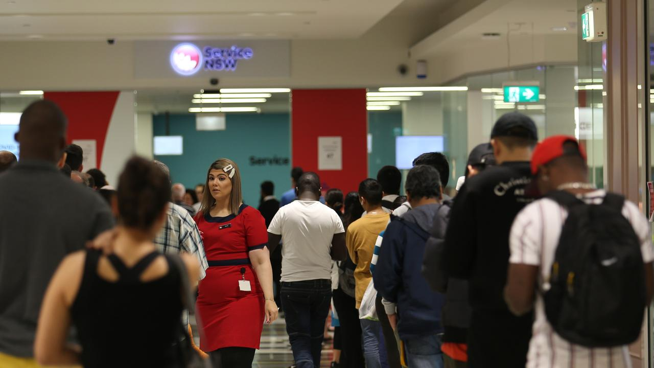 Service NSW in Bankstown is one of the venues listed by the health department. Picture: Britta Campion / The Australian