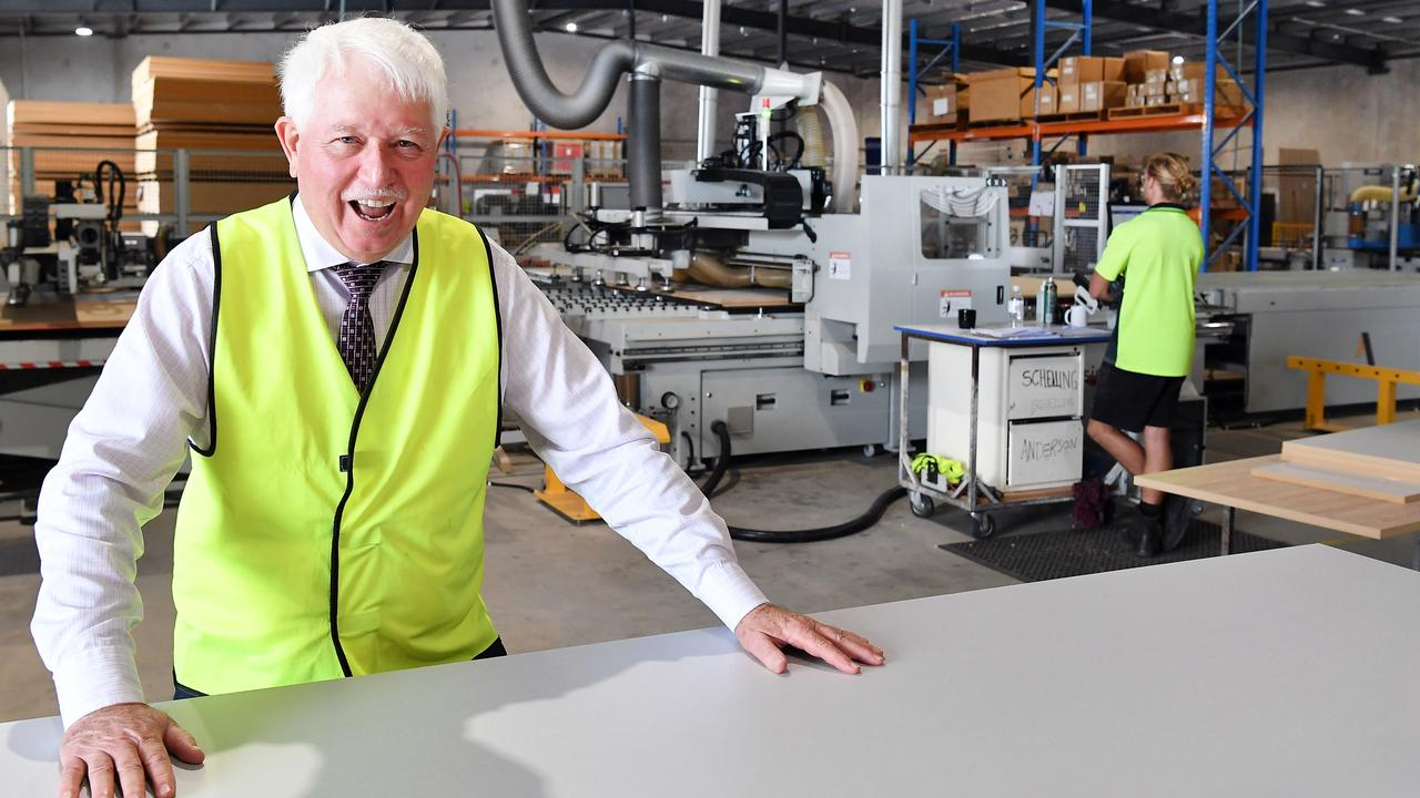BFX Furniture owner Denis Moore employs more than 180 Coast locals and he is committed to expanding his business at Yandina. Picture: Patrick Woods.