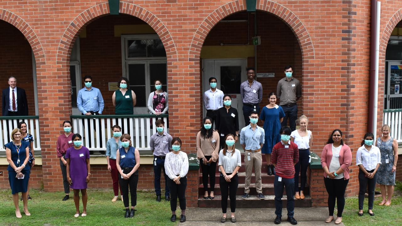 The future of medicine looks bright for the Wide Bay region, with 37 new first-year doctors, 27 of which will be based at Bundaberg Hospital. The interns wearing masks have recently relocated from Brisbane and are wearing them, in line with the recent COVID-19 guidelines.