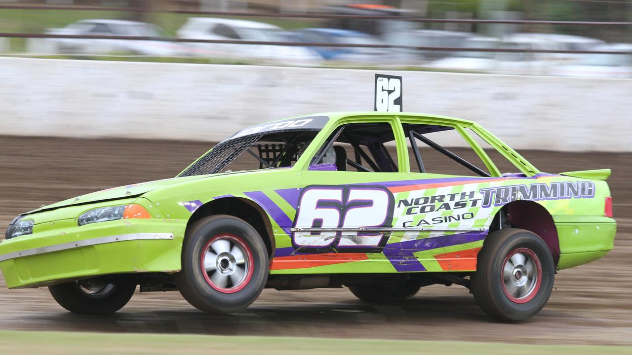 SUPER SEDAN: Production Sedans have been added to the card at Lismore Speedway on January 16, 2021. File Photo: Tony Powell