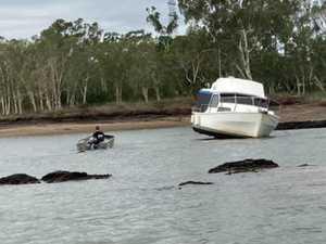 Coast Guard's rocky rescue on Fitzroy River