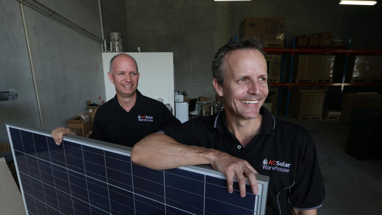 David Smyth and Grant Behrendorff of Evolve Energy have opened an AC Solar Warehouse due to demand for products.