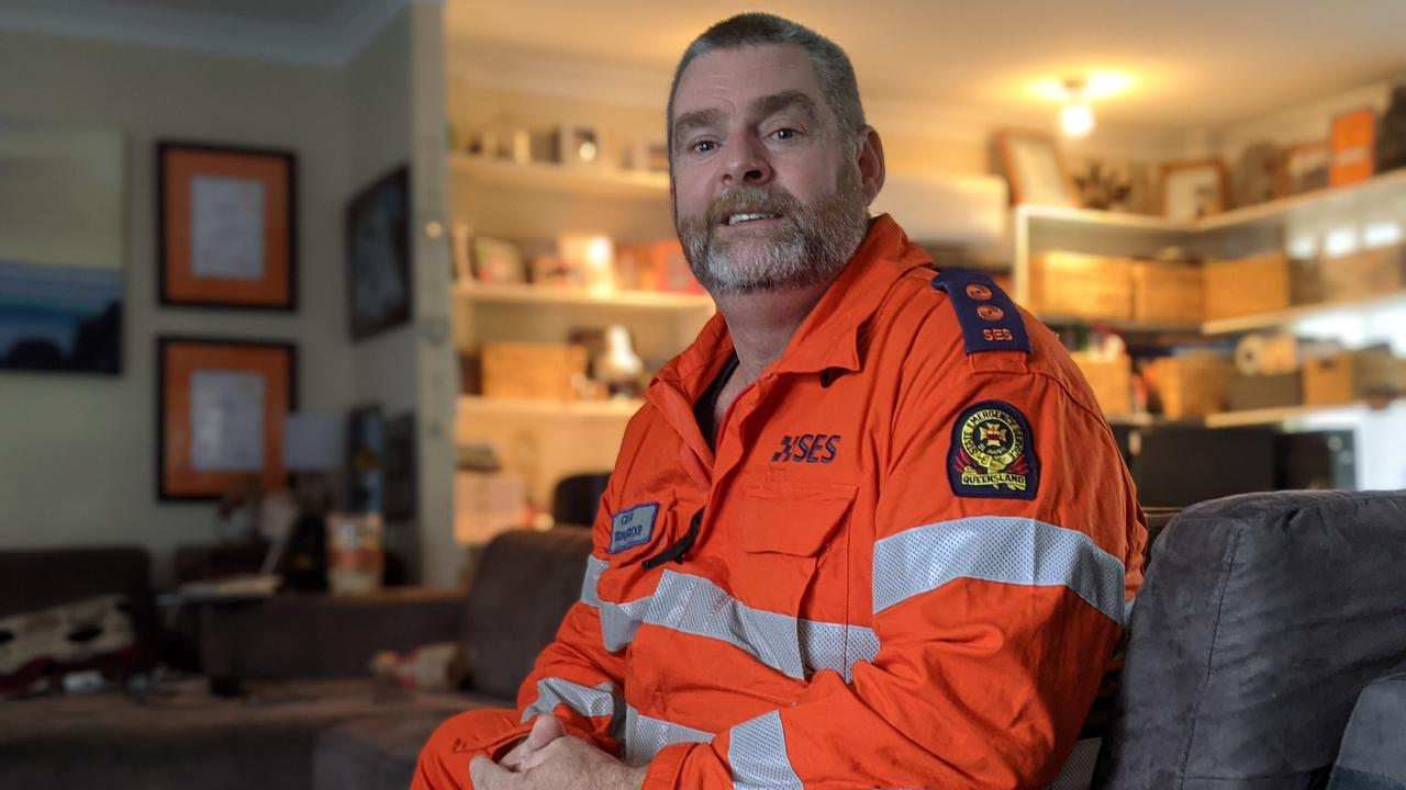 Looking back on the 2011 Ipswich floods, SES Goodna Group Leader Glen Pardy remembers the smell of the mud more than anything. Photos: Ebony Graveur