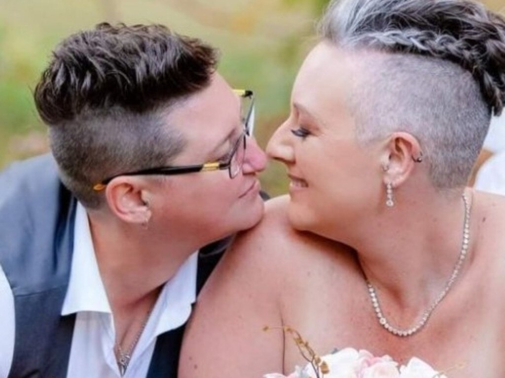 A crowd funded campaign has generated more than $3000 in bid to aid the search for missing Caboolture woman Amy Schulkins. Amy is pictured with her partner Rebecca.
