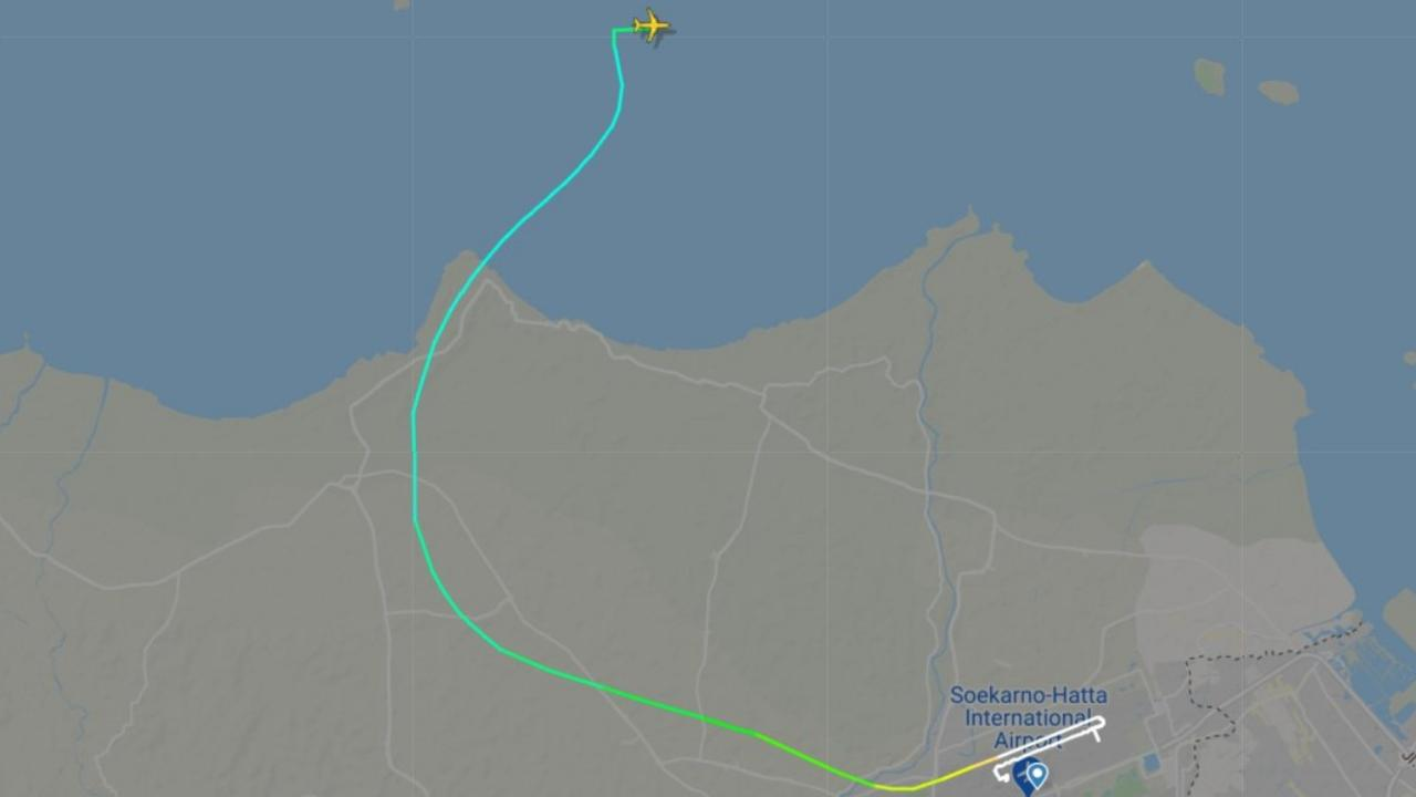 The flight path of the doomed plane. Picture: Flightradar24/Twitter