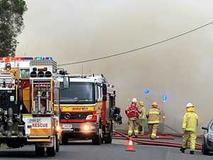 GALLERY: Heroic fireys stride into blaze as Nth Rocky home gutted