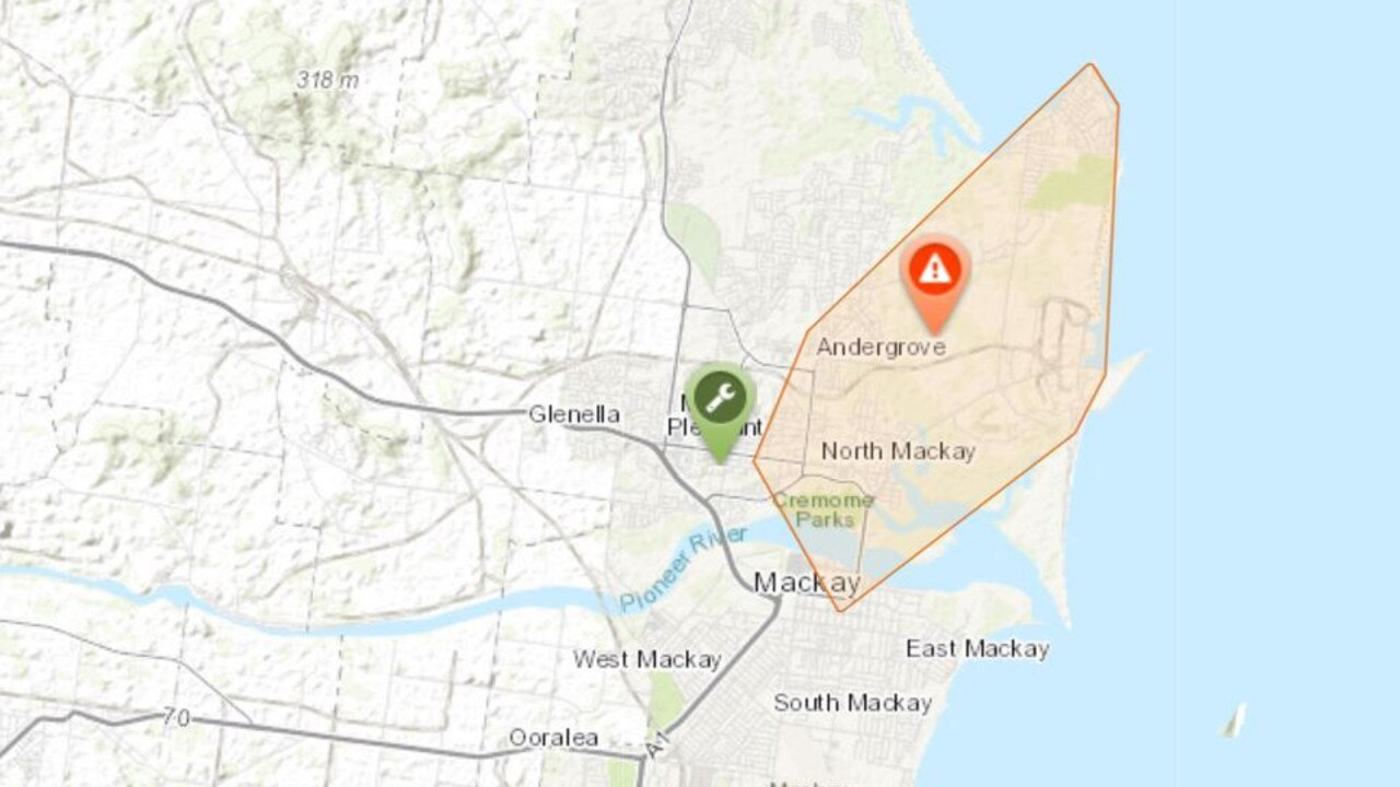 The current power outage in Mackay. Picture: Ergon Energy