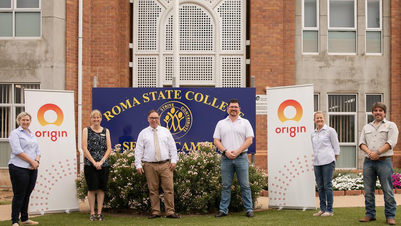 Sue Sands (Origin), Kate Van der Meulen (Head of Senior Campus), Guy Hendriks College Principal, Dave Atkin (Origin), Maxine Thomas (Origin) and Armando de la Flor Olavide (Origin).