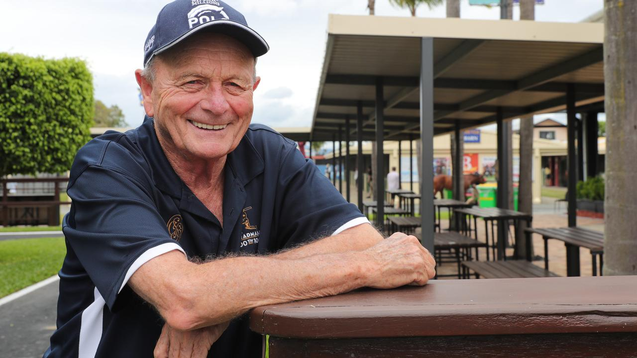 Magic Millions owner Gerry Harvey at the sales complex. Picture Glenn Hampson