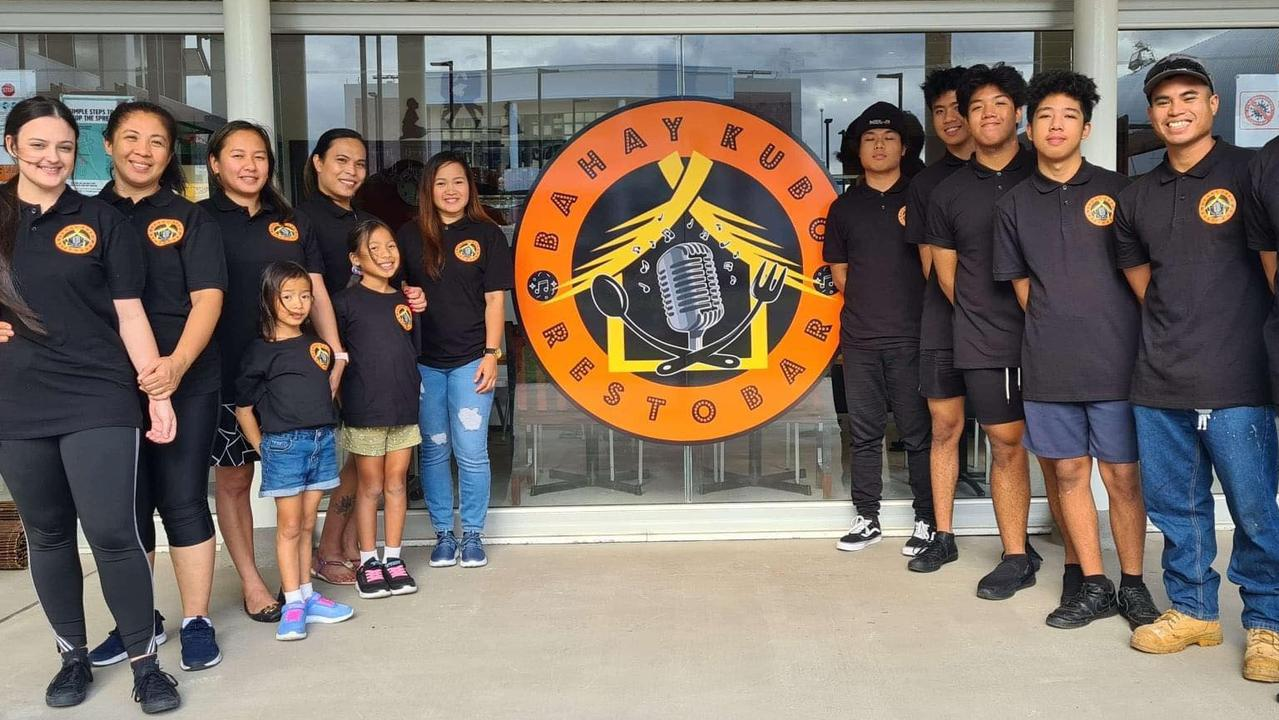 The staff at new Filipino restaurant Bahay Kubo, which is set to open its doors to the public on the Australia Day weekend.