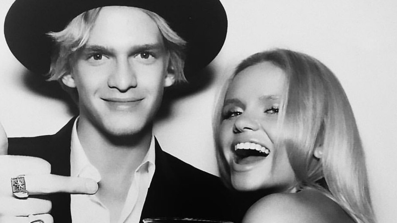 Alli Simpson with her brother, Cody.
