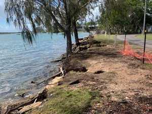 WATERFRONT WORRY: Coastal community's shoreline drops away
