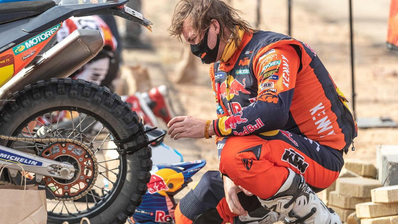 Mullet-wearing bush mechanic stuns the motorcycle world with a gruelling ride against the odds in legendary desert race.