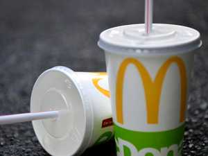 Man fleeing 'dangerous situation' stops at Maccas for drink