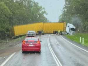 Truck crash closes highway