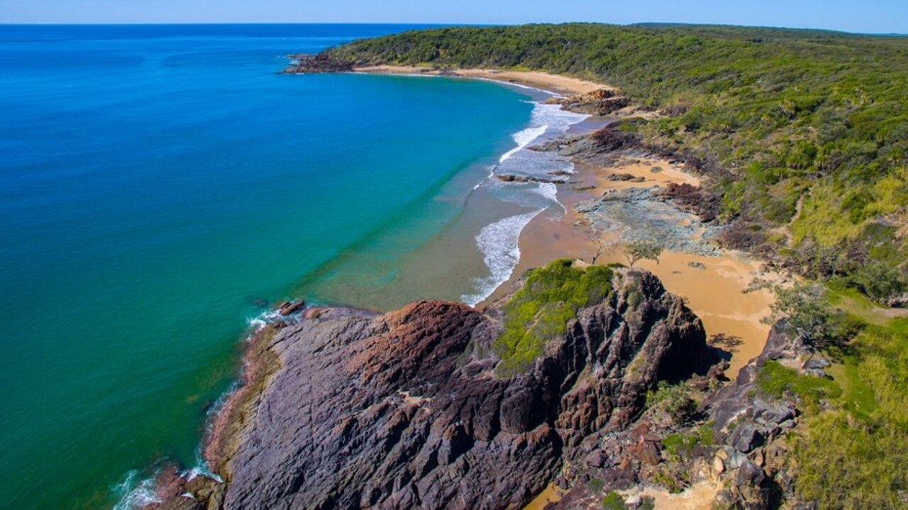 Workman's Beach at Agnes Water. Photo: Dragonfly UAV