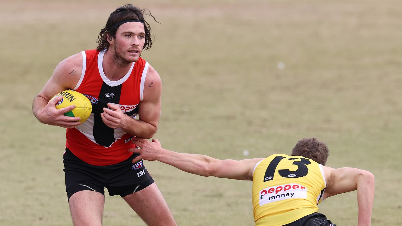 Dylan Roberton during a training drill last year. Picture: Michael Klein