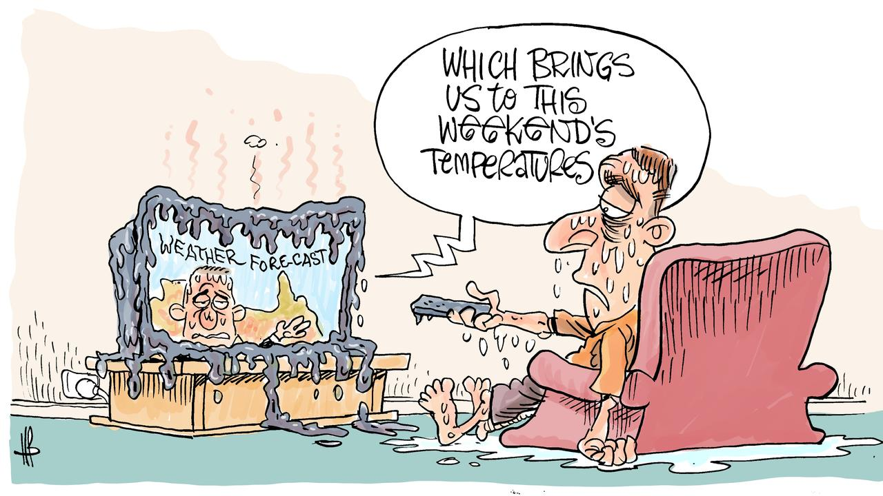 Harry's view on looming heatwave in CQ.