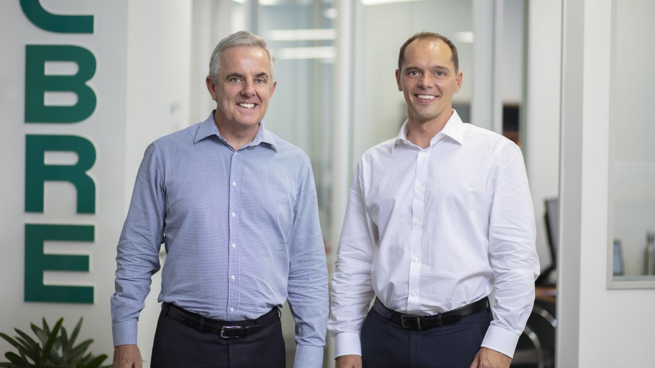 FRESH FACE: CBRE Sunshine Coast managing director Rem Rafter, left, with new recruit Matthew Marenko.