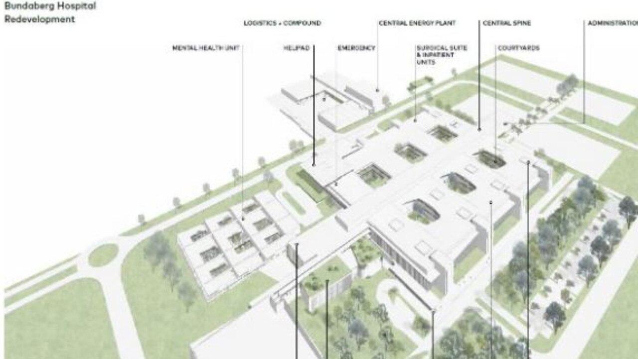 BIG PLANS: Artist impressions of the redeveloped Bundaberg Hospital.
