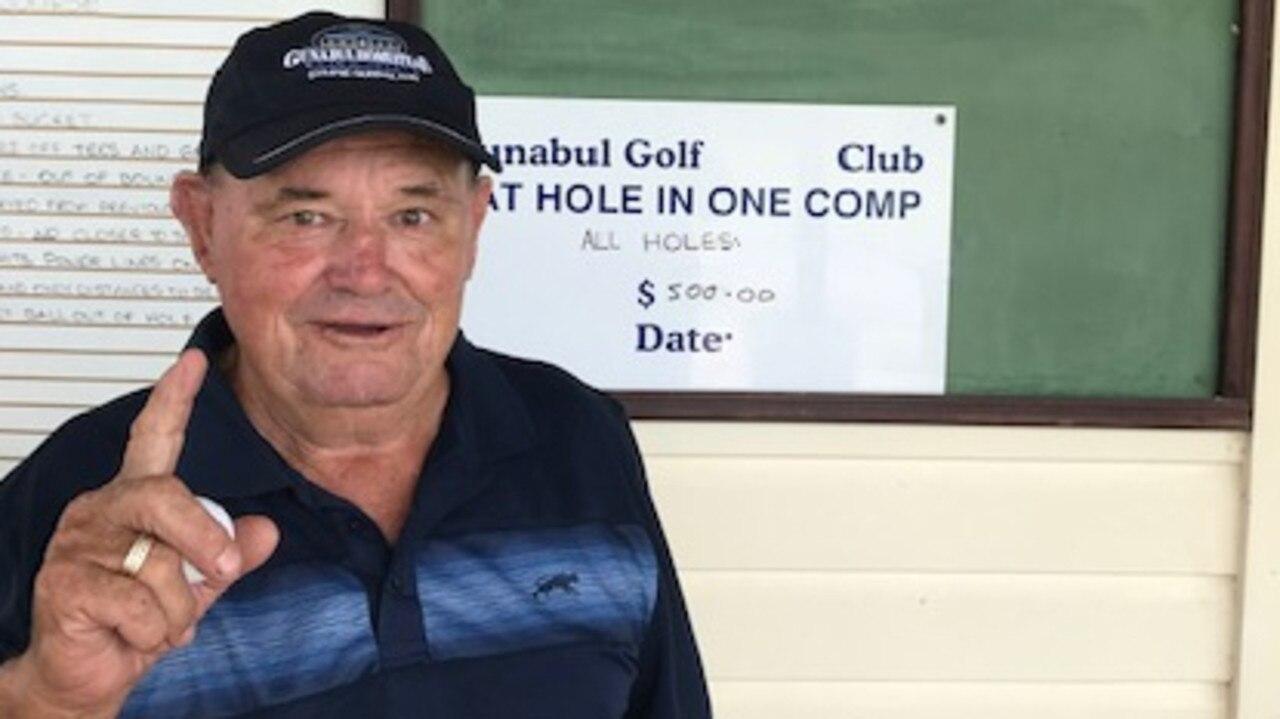 Brian Foxall shot a hole in one at Gunabul.