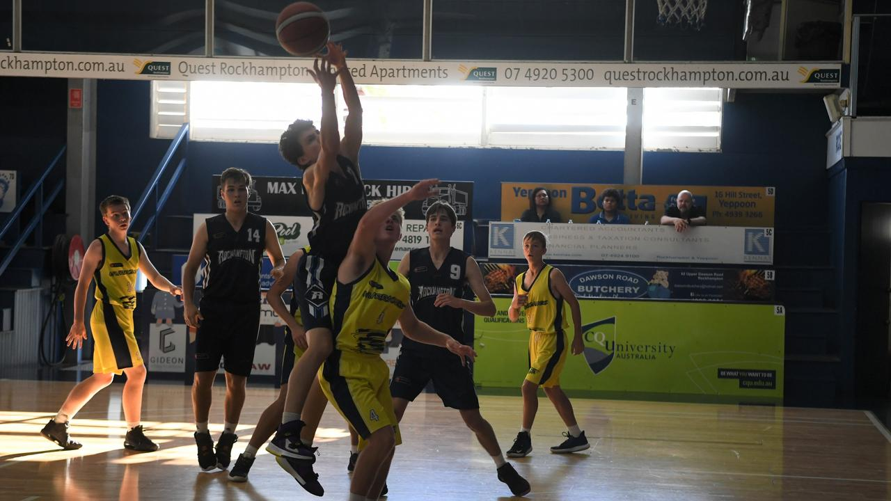 The Rockhampton Rockets, pictured playing at the CQJBC carnival, are playing in boys Division 1 at this week's state under-18 championships.