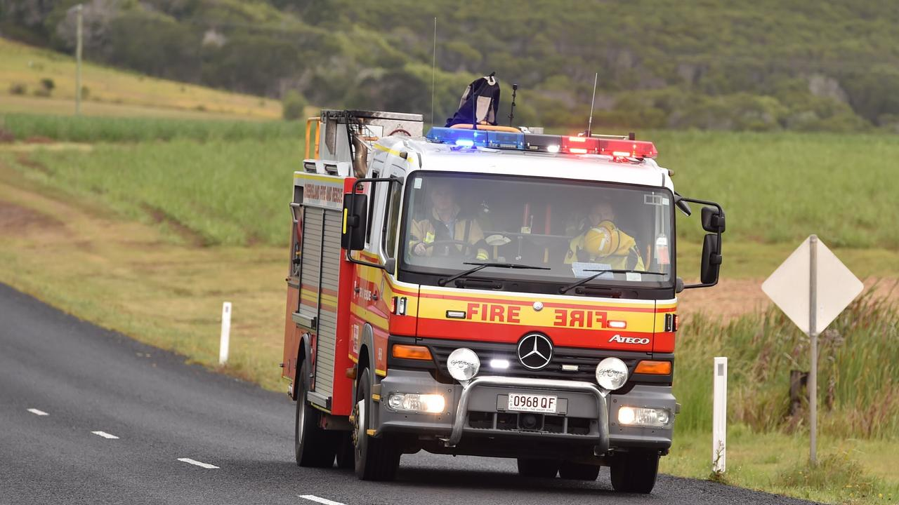 Emergency services have rushed to the scene of a tractor rollover on the Sunshine Coast. Picture: Alistair Brightman