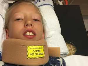 'She couldn't move': Mother's horror after backyard accident