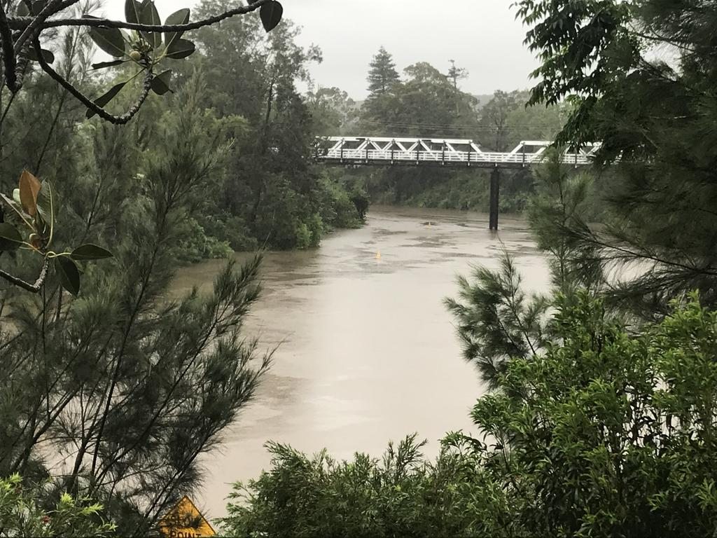 The Richmond River rose as heavy rain fell in Lismore in December.