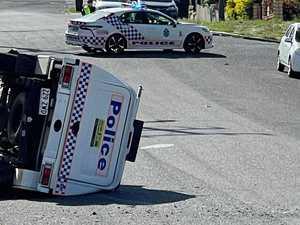 'Massive bang': Witness on stolen car and cop car crash