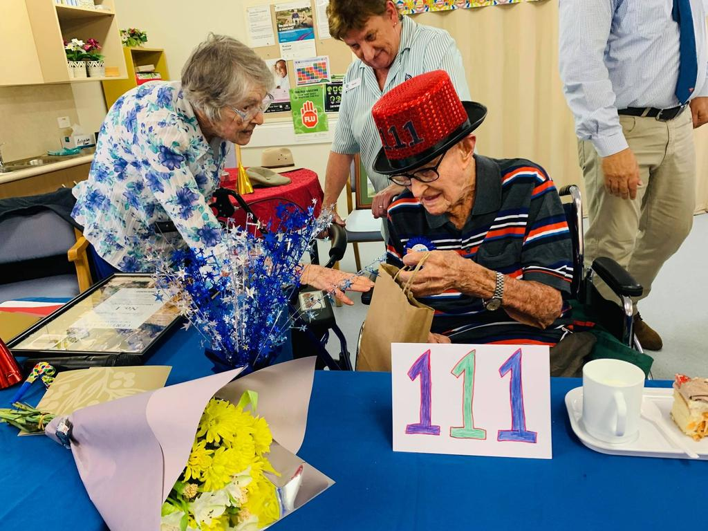 Australia's oldest person Dexter Kruger turns 111-years-old.
