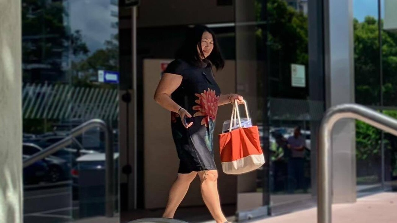 Yan Jiang leaves Maroochydore Magistrates Court on Wednesday after facing charges relating to the alleged operation of an illegal brothel.