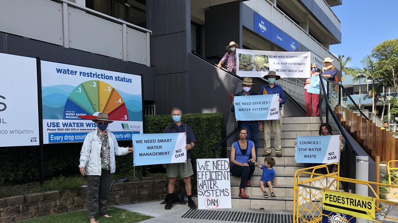 Northern Rivers Water group held a protest outside Rous County Council's offices on September 8, 2020. Photo: Alison Paterson