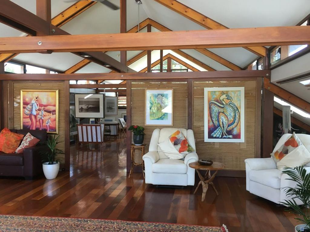 Solid ironbark posts and beams feature throughout the property.