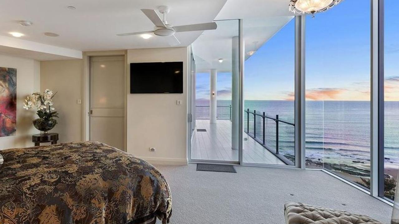 A room with a view in the penthouse on Mooloolaba Esplanade, Mooloolaba which is spread over two levels and has a footprint of more than 1160 sqm. Picture. Supplied / G1 Property