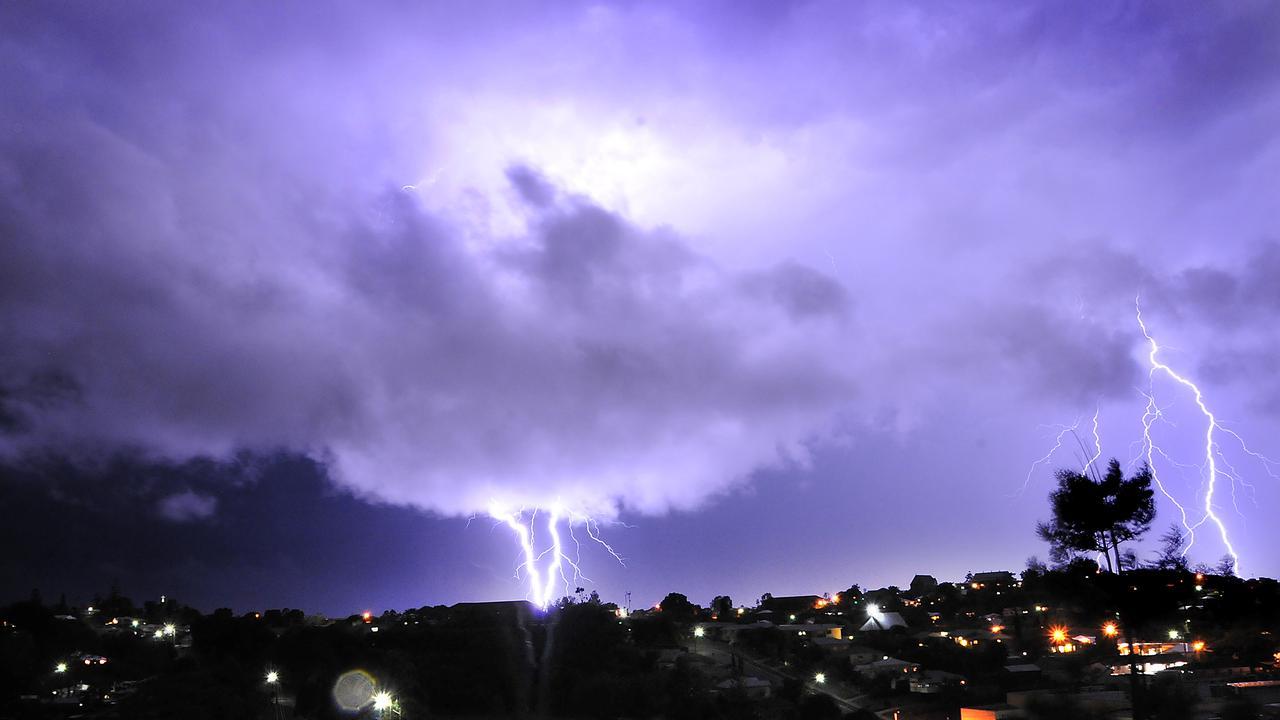 Lightening storm at Gympie. Picture: Craig Warhurst