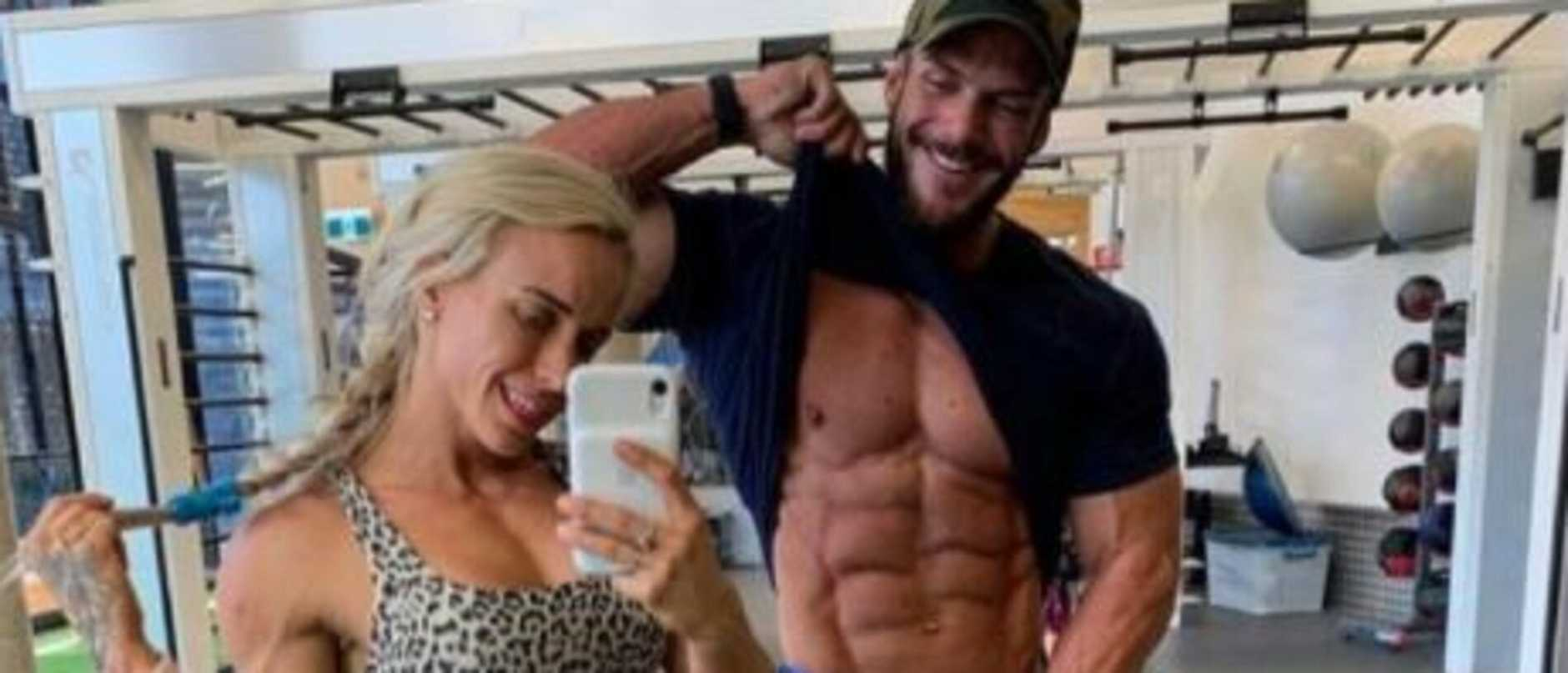 One half of an Instagram fitness power couple has been caught with synthetic steroids, testosterone and peptides he used to help enhance his physique.