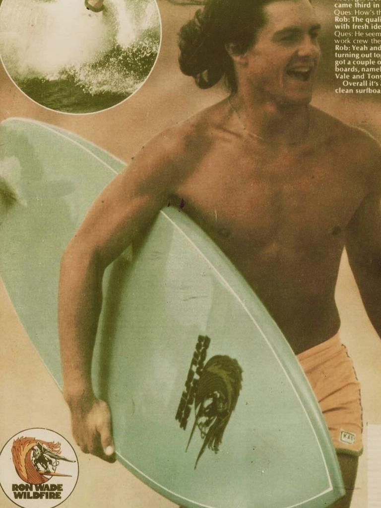 Be it his riding style or good looks, Stanno had a knack of finding himself on the front cover of surfing mags.