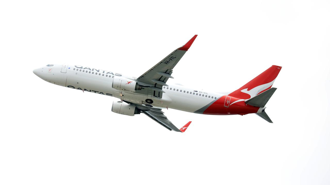 A Qantas plane takes off from Sydney Airport. Picture: NCA NewsWire/Christian Gilles