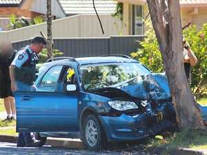 Young driver in serious condition after slamming into tree