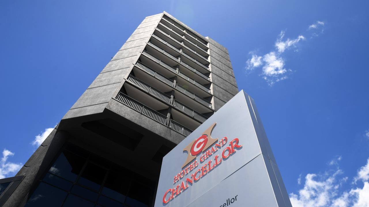 Brisbane's Hotel Grand Chancellor, which has been evacuated amid concerns of a coronavirus cluster. Photo: Dan Peled.
