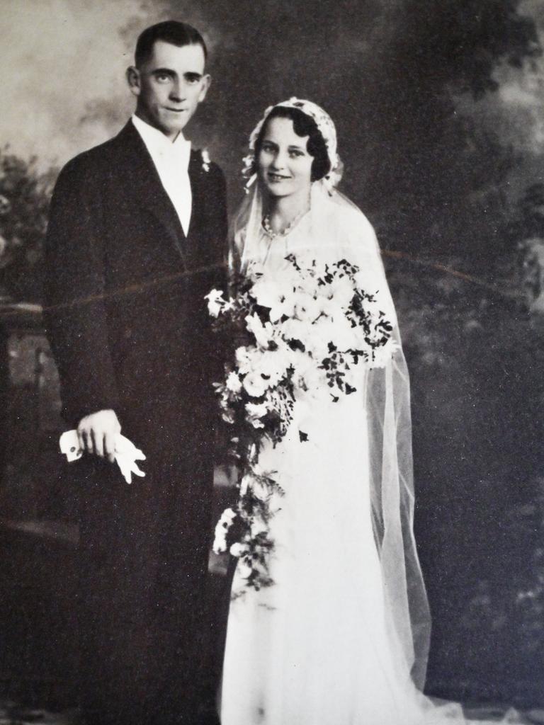 Elizabeth Jordan with her late husband Joseph.