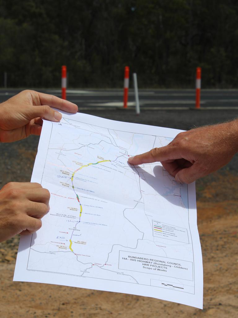 ROAD WORKS: Member for Bundaberg Tom Smith and Councillor Wayne Honor welcome the start of works on the $42.5 million Isis Highway upgrade.