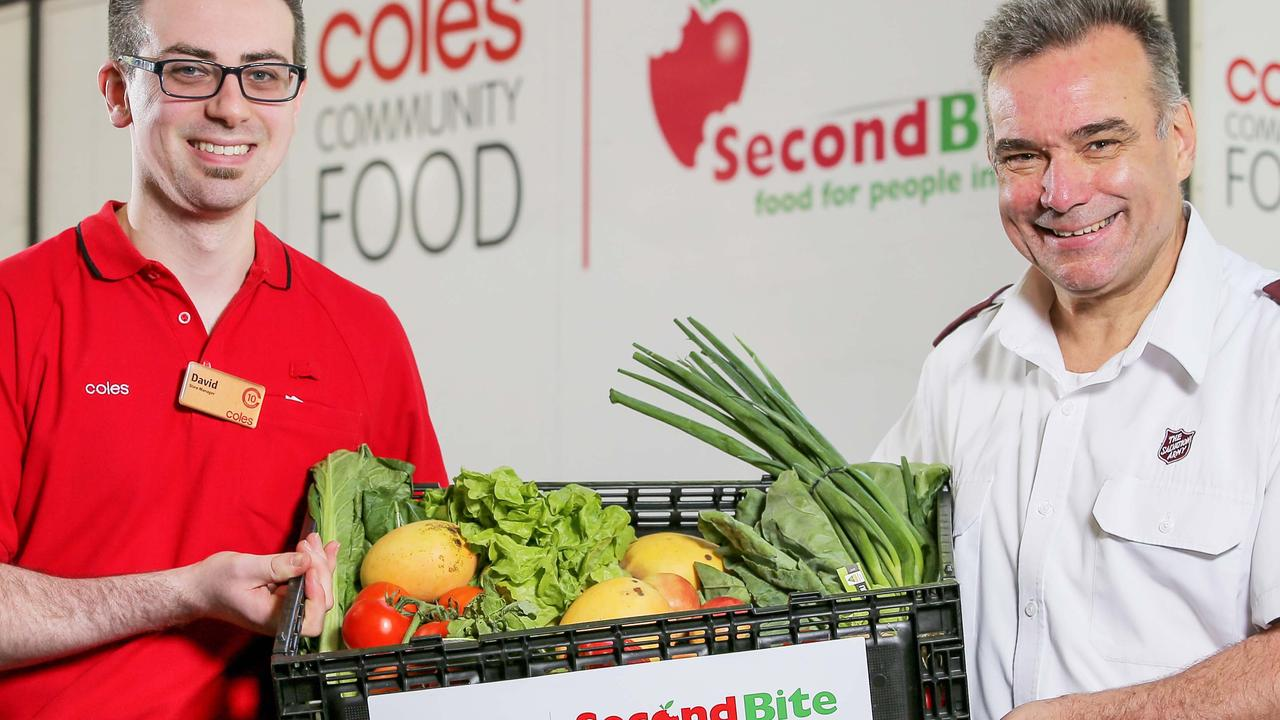 Coles Store Manager David and Salvation Army Major Brendan Nottle